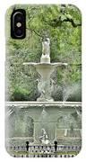 Forsyth Park Fountain - Savannah Georgia IPhone Case