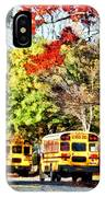 Parked School Buses IPhone Case