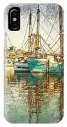 Pass Christian Harbor Sketch IPhone Case