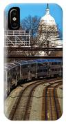 Passenger Metro Train With Us Capitol IPhone Case