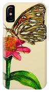 Passion Butterfly On Zinnia IPhone Case