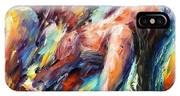 Passion - Palette Knife Figures Of Lovers Oil Painting On Canvas By Leonid Afremov IPhone Case