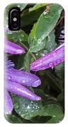 Passion Vine Flower Rain Drops IPhone Case
