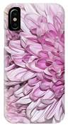 Pastel Pink Mums IPhone Case