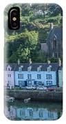 Pastel Rowhome In The Bay Highlands Scotland IPhone Case