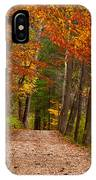 Path In A Fall Woods IPhone Case