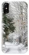 Path Through The Snow IPhone Case