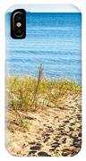 Path To The Lake Superior Beach IPhone Case