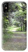 Pathway Through The Forest IPhone Case