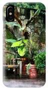 Patio Garden In The Rain IPhone Case