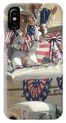Patriotic Cowgirls Firetruck July 4th Parade Prescott Arizona 2002 IPhone Case
