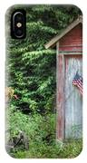 Patriotic Outhouse IPhone Case