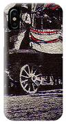 Patriotic Wagon Stone And Congress Tucson Arizona C.1900 Restored Color Texture Added 2008 IPhone Case