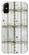 Pattern Of Shipping Container Stack At Depot IPhone Case
