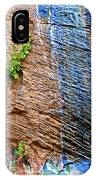 Pattern On Wet Canyon Wall From River Walk In Zion Canyon In Zion National Park-utah  IPhone Case