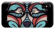 Patterned Colored Head Of The Wolf IPhone Case