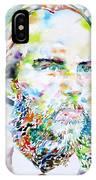 Paul Verlaine - Watercolor Portrait.2 IPhone Case
