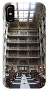 Peabody Library Baltimore IPhone Case