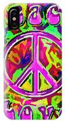 Peace And Love IPhone Case