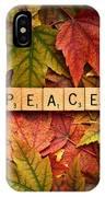 Peace-autumn IPhone Case