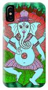 Peace Ganesh Dancing IPhone Case
