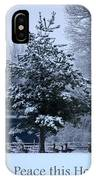 Peaceful Holiday Card - Winter Landscape IPhone Case
