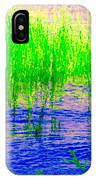 Peaceful Stream  Quebec Landscape Art Tall Grasses At The Lakeshore Waterscene Carole Spandau IPhone Case