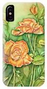 Autumn Roses IPhone Case