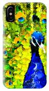 Peacock Abstract Realism IPhone Case