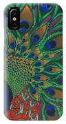 Peacock And Poppies IPhone Case