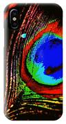 Peacock Feather Abstract IPhone Case