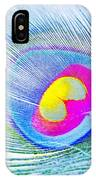 Peacock Feather Neon IPhone Case