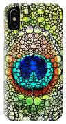 Peacock Feather - Stone Rock'd Art By Sharon Cummings IPhone Case