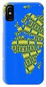 Peacock Feather World Map IPhone Case