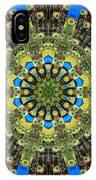 Peacock Feathers Kaleidoscope 9 IPhone Case