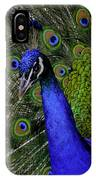 Peacock Head And Tail IPhone Case
