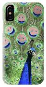 Peacock Smiles IPhone Case