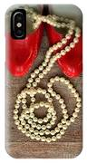 Pearls In Red Shoes IPhone Case