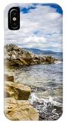 Pebbled Beach Under Dramatic Skies Number Two IPhone Case