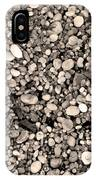 Pebbles Bw IPhone Case