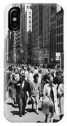 Pedestrians In New York IPhone Case