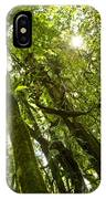 Peeking In Costa Rica Rain Forest IPhone Case