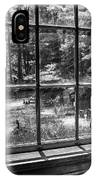 Peering Out The Window Bw IPhone Case