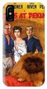Pekingese Art - 55 Days In Peking Movie Poster IPhone Case