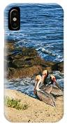 Pelicans On The Cliff - La Jolla Cove IPhone Case