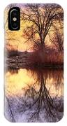 Pella Crossing Sunrise Reflections Hdr IPhone Case