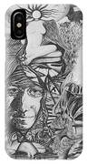 Pen And Ink World 3 IPhone Case