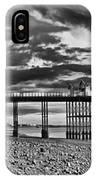Penarth Pier Panorama Monochrome IPhone Case