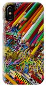 Pencils And Paperclips IPhone Case