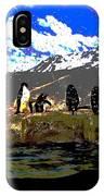 Penguins Line Dance Posterized 2 IPhone Case